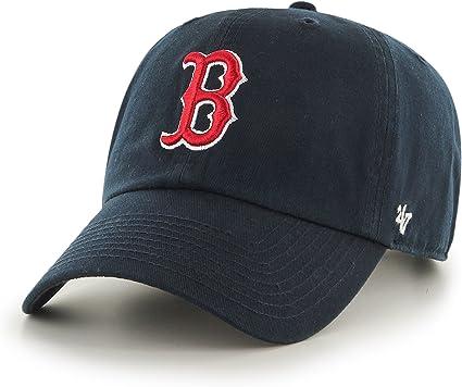 47 MLB Boston Red Sox Clean UP Gorra, Azul (Navy), OSFA Unisex ...