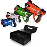 Family Games Laser Tag Night 4 Pack Set, Glow in the Dark Family Yard Games & Birthday Set Party Games