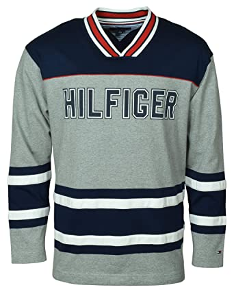 Tommy Hilfiger Hockey Jersey at Amazon Men s Clothing store  99c3fc4aafd