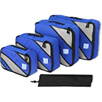 4 Set Packing Cube - Travel Organizers with Laundry Bag, Blue