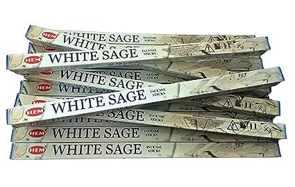 HEM Varillas de Incienso de Salvia Blanca, 14 Cajas, 10 g por Paquete,