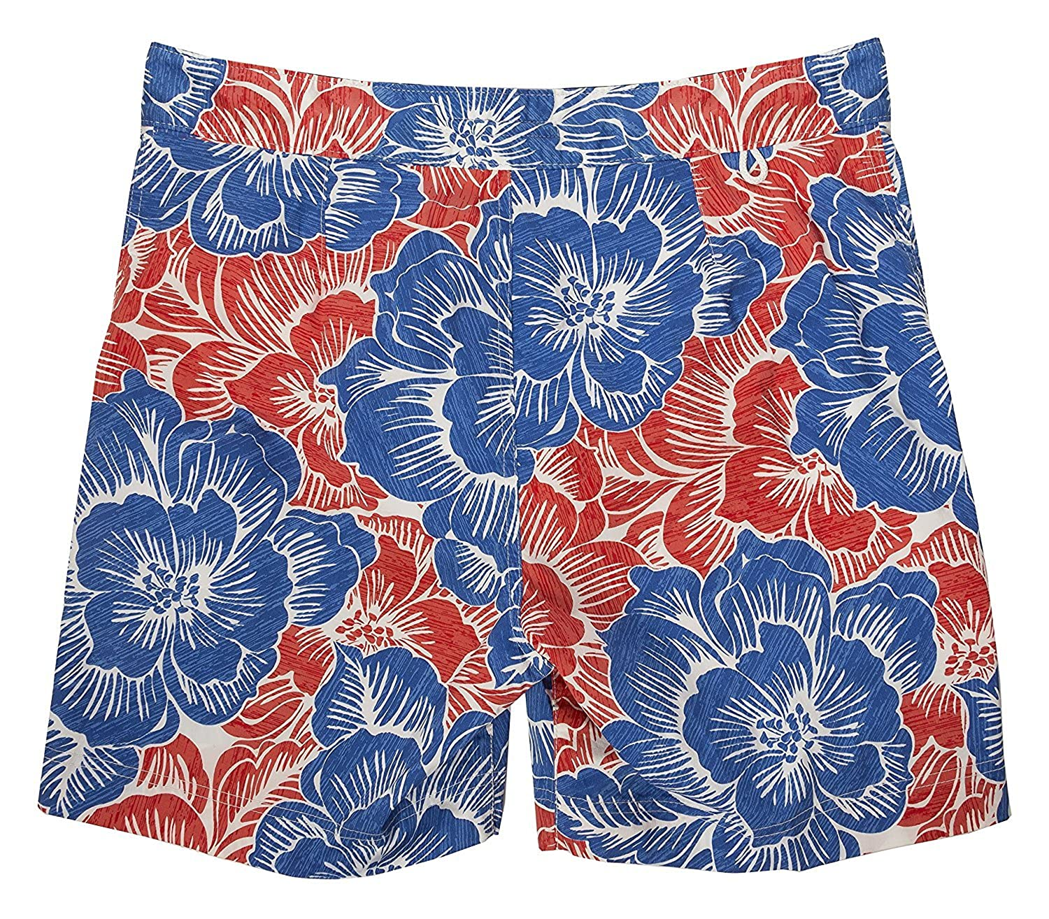 2079c9fae1 Tommy Hilfiger Men's Surfside Floral Print Swim Trunks (XX-Large) |  Amazon.com