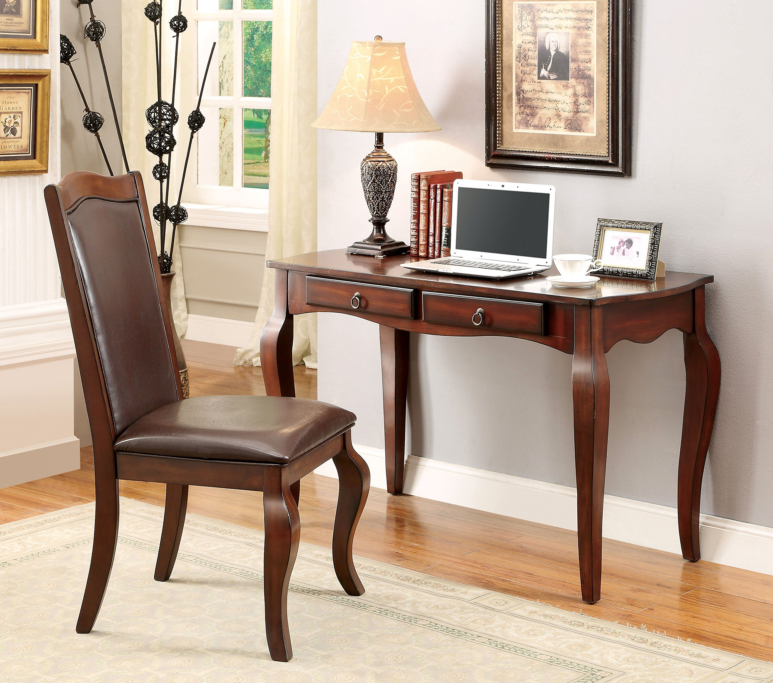 Furniture of America Marius Computer Desk and Chair