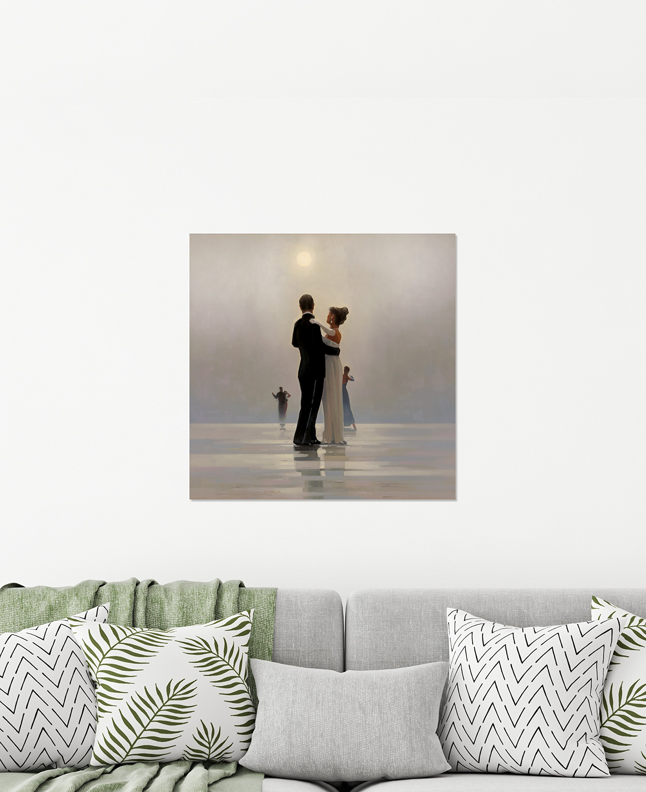 ArtMaison.ca 24X24 Dance Me Till the End of Love, Printed Canvas Gel Coated Romantic Wall Art, Medium, Black, White by ArtMaison.ca (Image #2)