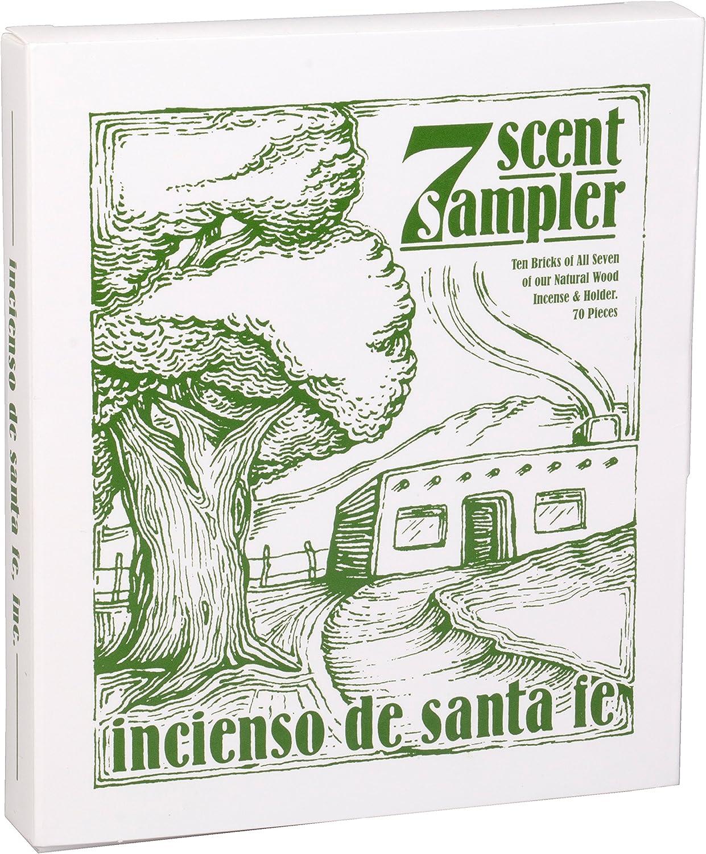 7 Scent Sampler Wood Incenses with Holder