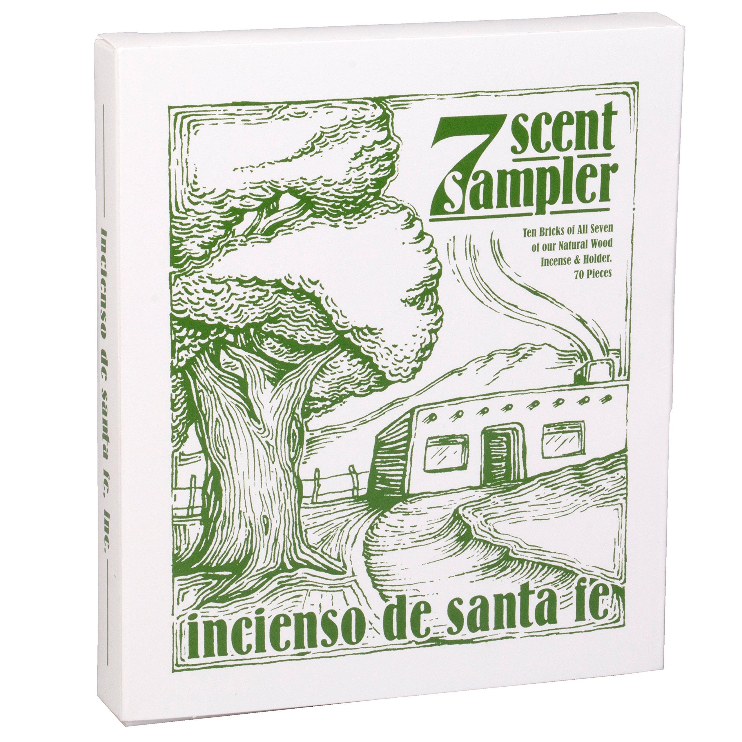 7 Scent Sampler Wood Incenses with Holder by Incienso de Santa Fe