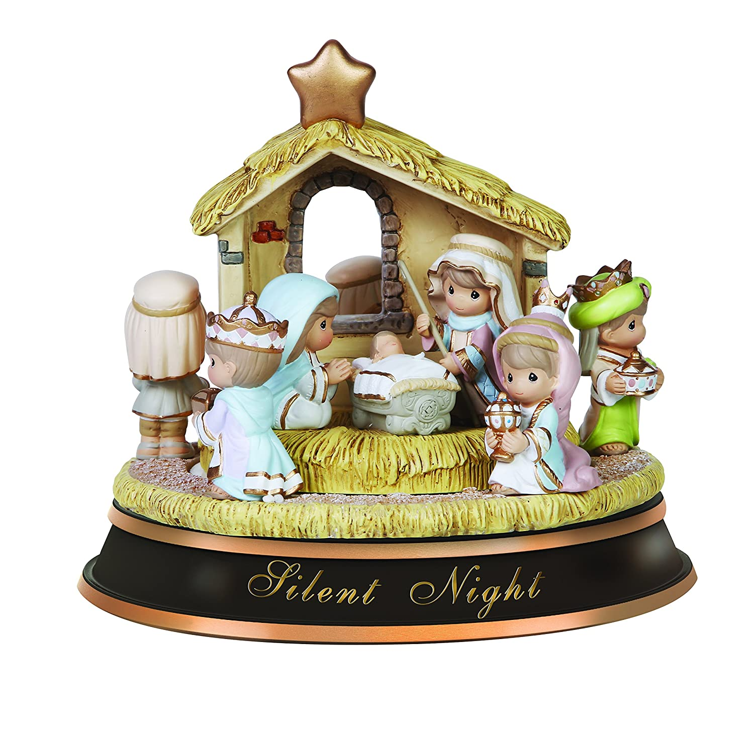 Amazoncom Precious Moments Silent Night Nativity Rotating