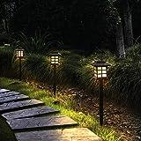 Otdair Solar Path Lights Outdoor - Waterproof Solar Pathway Lights Outdoor, LED Warm Lights Outdoor for Yard, Garden…