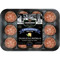 Carando, Fresh Italian Style Uncooked Abruzzese Meatballs, Blended Cheese and Herbs, 16 oz (Frozen)