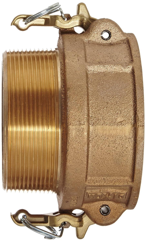 Dixon BB125 Brass Boss-Lock Type B Cam and Groove Hose Fitting 1-1//4 Socket x 1-1//4 NPT Male