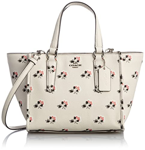 c44e53c07ff77 Coach Mini Crosby Carryall in Printed Crossgrain Leather in Silver Bramble  Rose  Amazon.ca  Shoes   Handbags