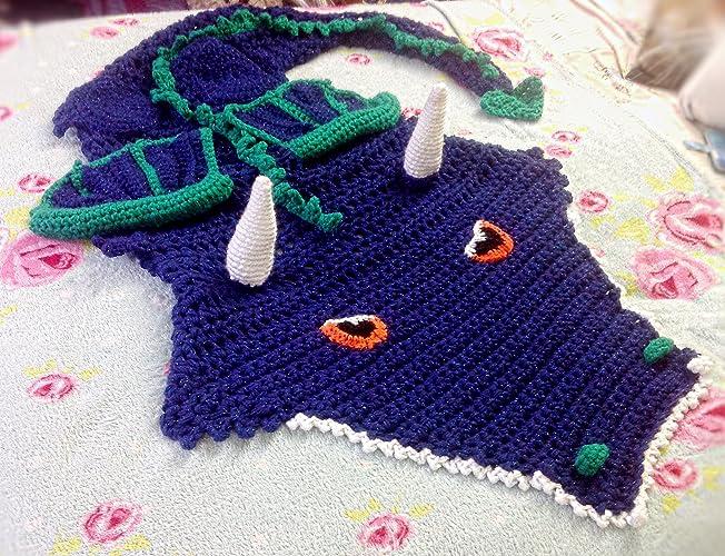 Crochet Dragon Blanketdinosaur Sizes Baby Adult Birthday