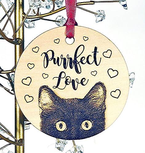 b287e77e971 Amazon.com: Cat Ornament, Cat Christmas Wood Ornament, Choose Cat ...
