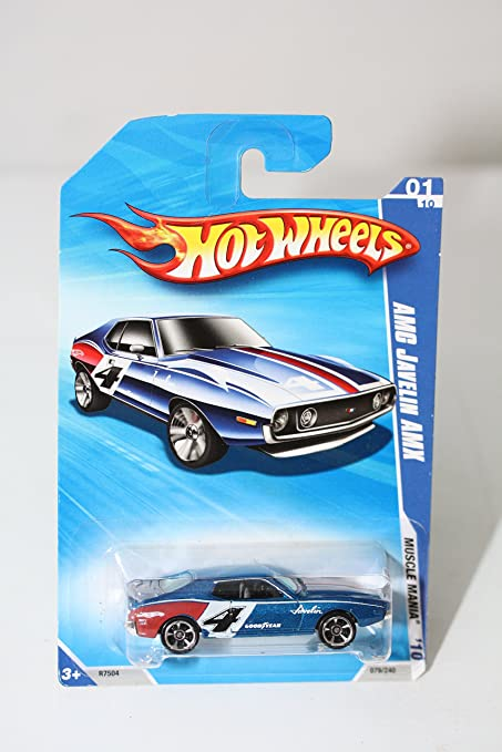 Amazon com: Hot Wheels Amc Javelin Amx (Blue): Toys & Games