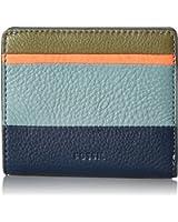 Fossil Emma Rfid Mini Wallet Navy Multi Stripe Wallet