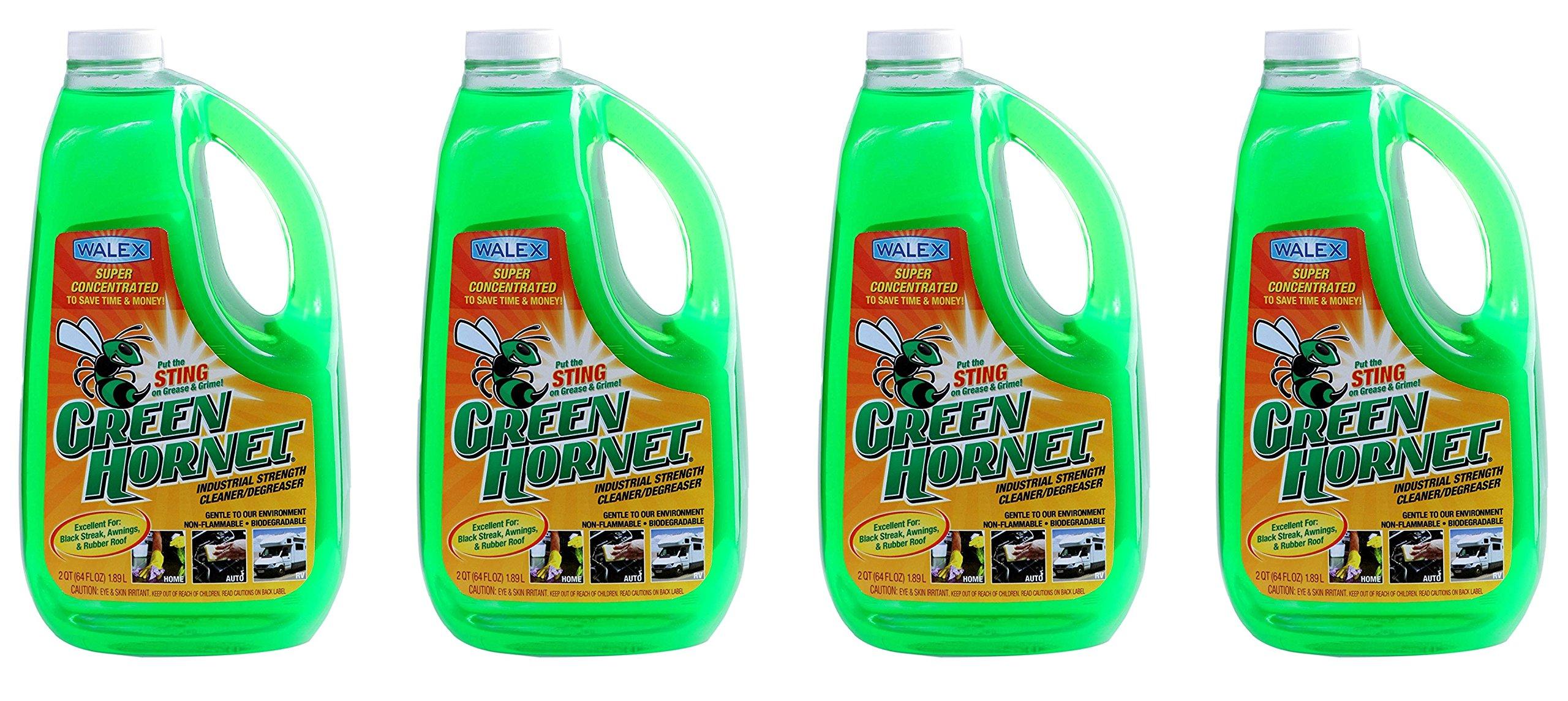 Walex GH64OZ Green Hornet Super Concentrate Cleaner/Degreaser - 64 oz. (4)