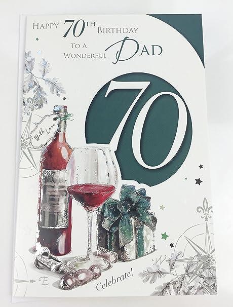 Papa 70th carte d/'anniversaire