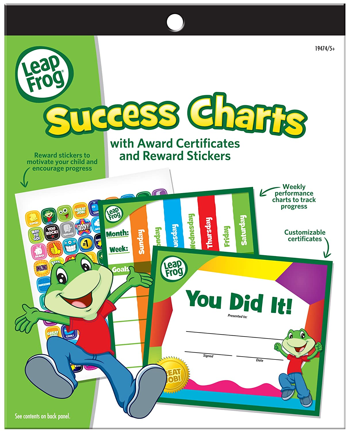 Amazon.com : LeapFrog Success Charts with Award Certificates and ...