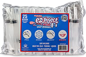 25 Pack EZ-InjectTM Jello Shot Syringes (Medium 1.5oz)