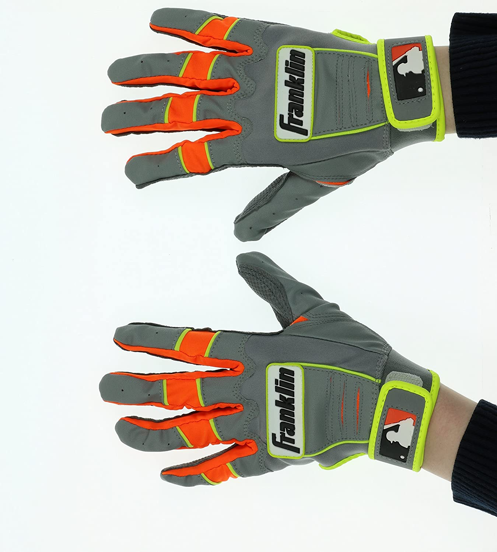 Franklin CFX Proユース野球バッティンググローブ B01N9LTHFHミディアム Grey/Orange
