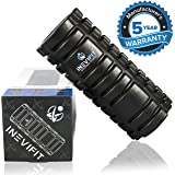 INEVIFIT FOAM ROLLER for Trigger Point Activation, Accelerated Muscle Recovery, Therapy & Rehabilitation, Deep Tissue Massage for Myofascial Release. Includes a carrying bag & 5-Year Warranty