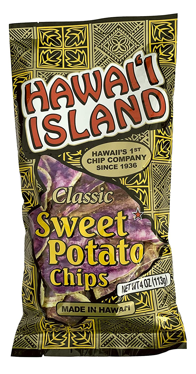 Hawaii isla Gourmet 12 Sweet patatas chips Color Morado ...
