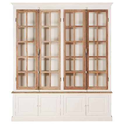 Kathy Kuo Home Portes Antique French Country 4 Door White Pine Cabinet Curio - Amazon.com: Kathy Kuo Home Portes Antique French Country 4 Door