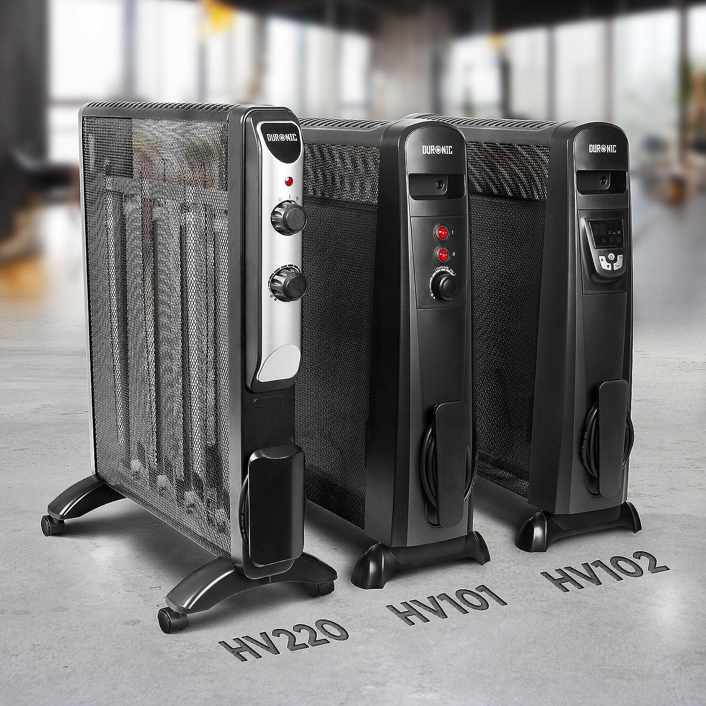 Estufa sin Aceite Que calienta en 1 Minuto Bajo Consumo y Ligero Duronic HV101 Radiador El/éctrico 2500W de Panel de Mica