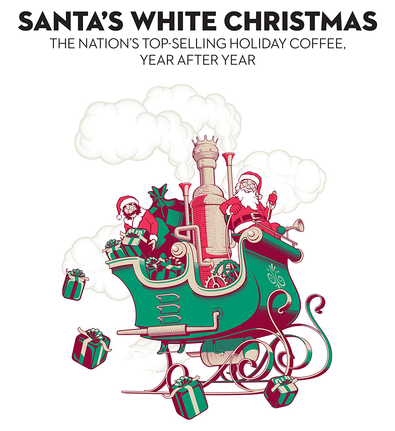 Amazon.com : Barnie\'s Coffee & Tea Santa\'s White Christmas, Ground ...