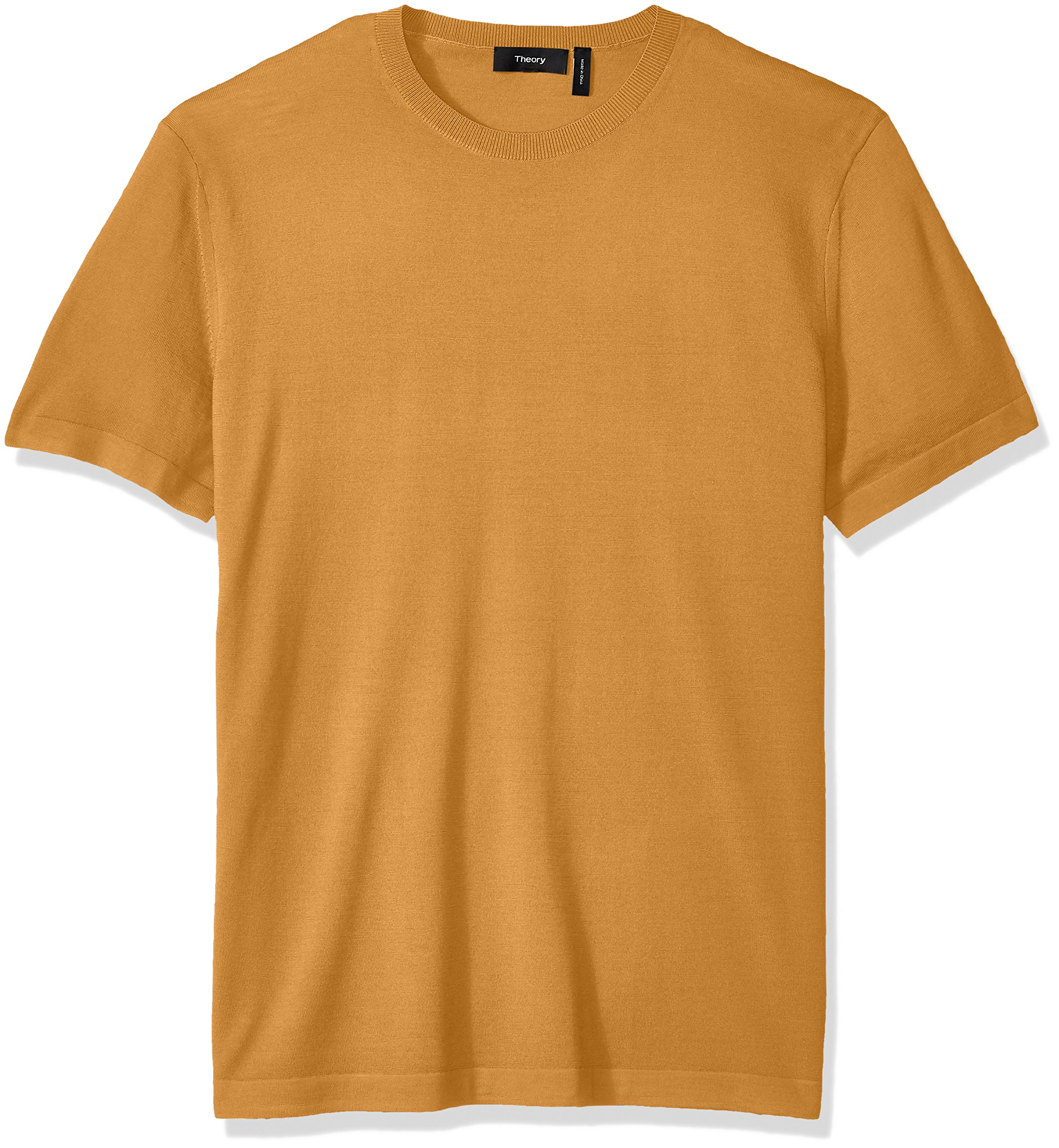Theory Men's Veloy Leden Luxe Merino Short Sleeve, Sunset XL