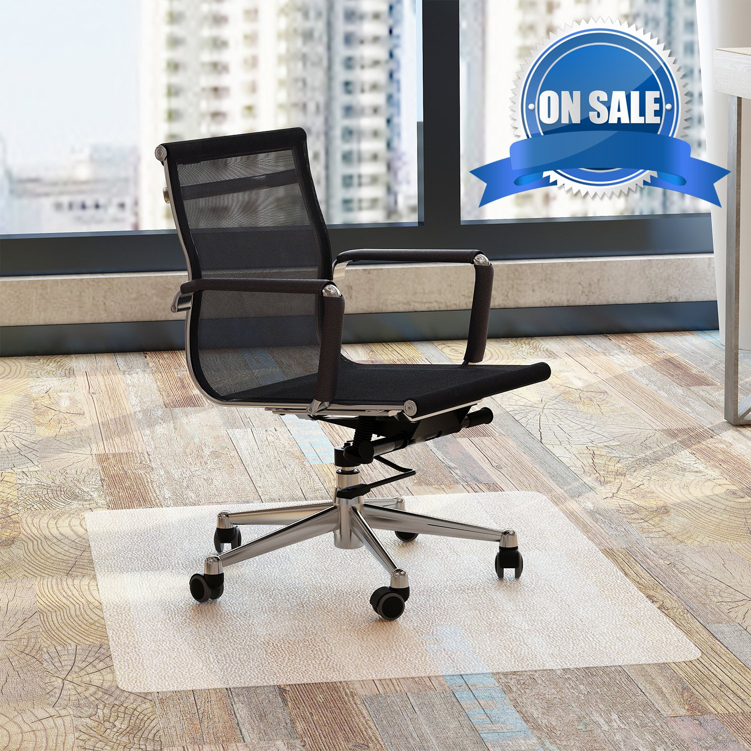 Chair Mat Office for Hardwood Floors 48 x 36 inches - FEZIBO Floor Mats for Desk Chairs