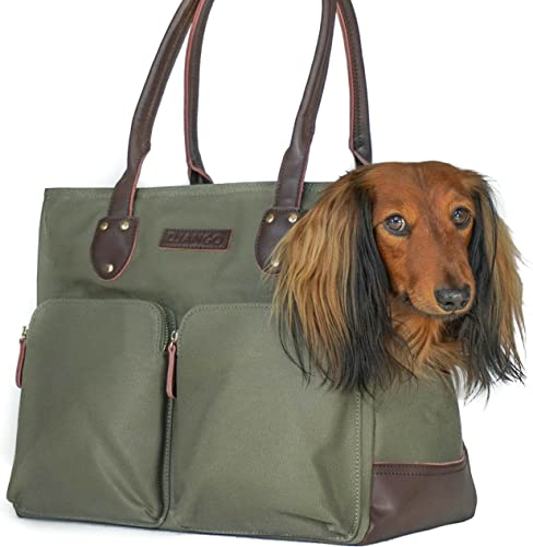 DJANGO-Dog-Carrier-Bag-Waxed-Canvas-and-Leather-Soft-Sided-Pet-Travel