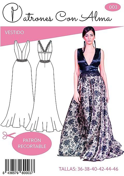 Patron Vestido Fiesta Largo Mod. Ferrol (36): Amazon.es: Hogar