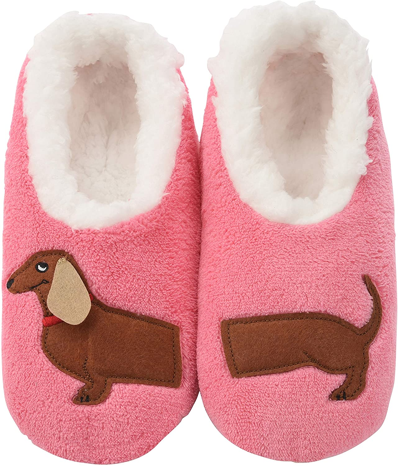 Snoozies Pairables Womens Slippers - House Slippers - Dachshund