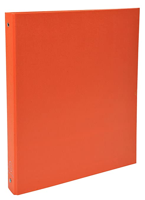 Exacompta 51374SE - Carpeta con 4 anillas, A4, color naranja