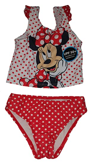 93600a1a857e1 Fashion Toddler Girls Disney Minnie Mouse 2 Piece Swimsuit - 2T,Red