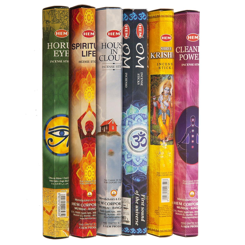 裾瞑想Best Variety incense120 Sticks 6つの香りPlus 8スティックサンプル B077HQN45P