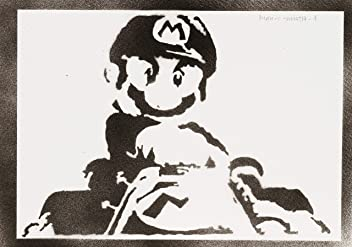 Super Mario Handmade Street Art - Artwork - Poster