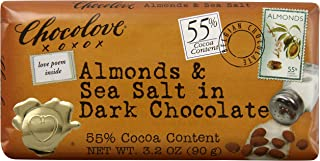 product image for Chocolove Almonds Seasalt in Dark Chocolate, 3.2-ounces (Pack of 6)