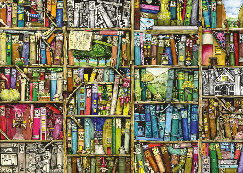 Bücherregal gezeichnet  Ravensburger 19137 - Magisches Bücherregal, 1000 Teile: Amazon.de ...