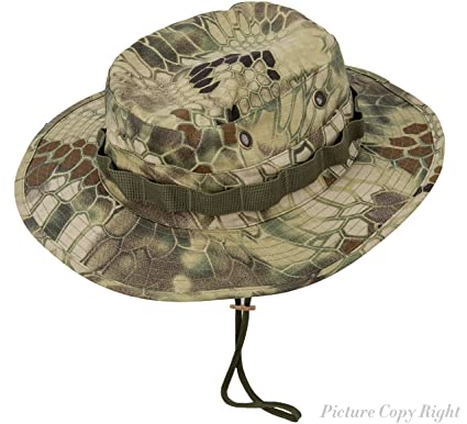 83ea451b0ec Boonie Hat Tactical Ripstop Headwear Bucket Hat Map Pocket Chin Strap  Wargame Sports Hunting Fishing UV