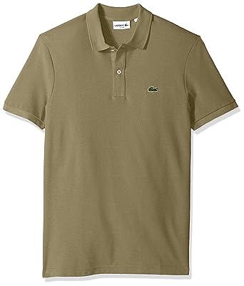 Lacoste Men\u0027s Classic Pique Slim Fit Short Sleeve Polo Shirt, PH4012-51,  Aloe