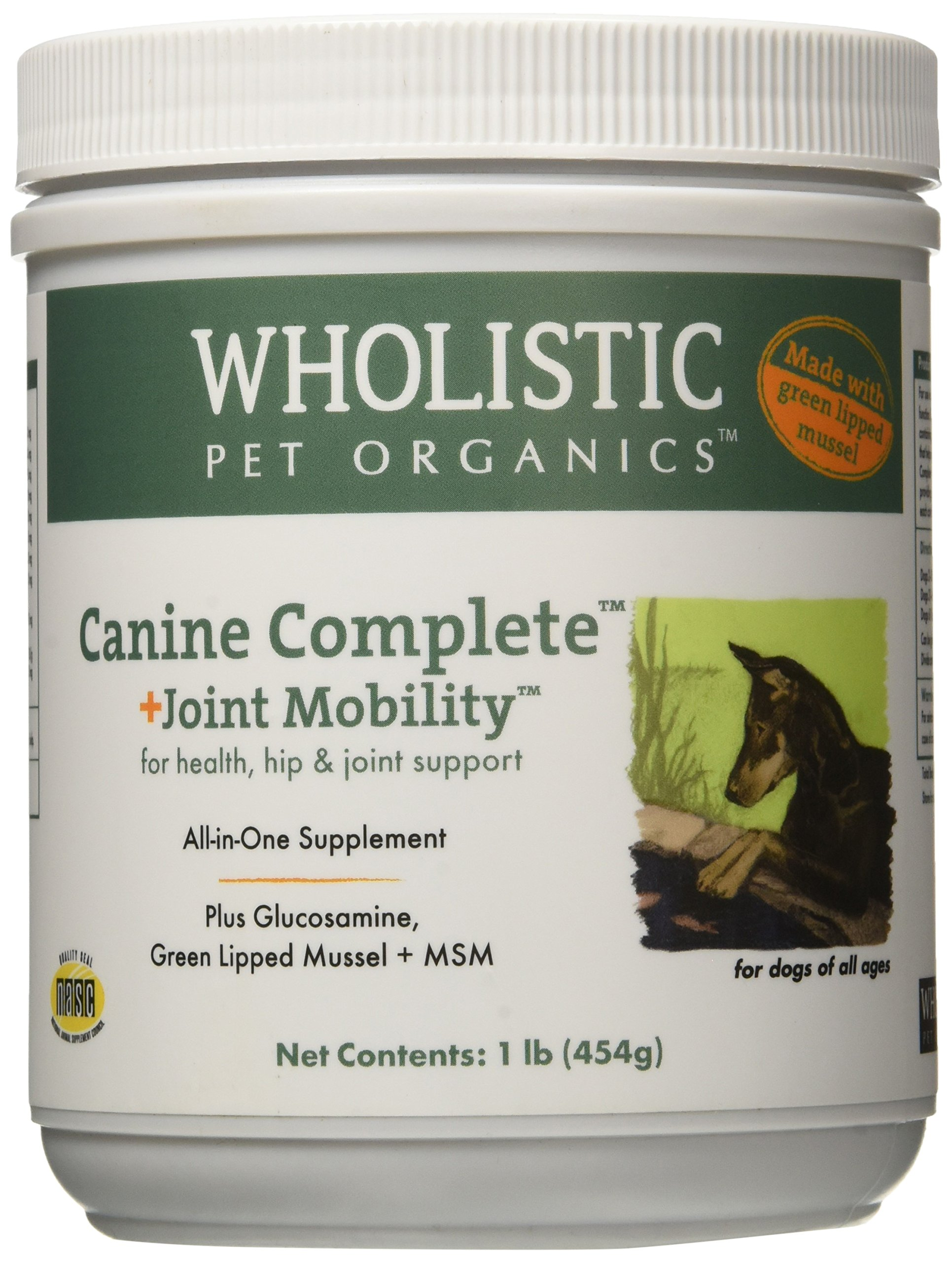 Wholistic Pet Organics Canine Complete Plus Joint Mobility with Green Lipped Muscle Supplement, 1 lb by Wholistic Pet Organics (Image #1)