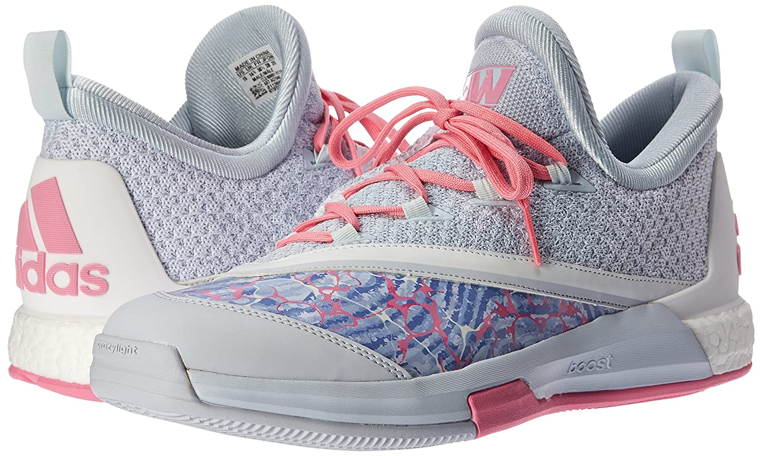 finest selection 68591 2fdce ... sweden amazon adidas performance mens crazylight boost 2 5 basketball  shoe half blue white 15 m