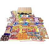 Retro Sweet Hamper in a Wicker Effect Box (Wicker Effect Hamper crammed full of retro sweets)