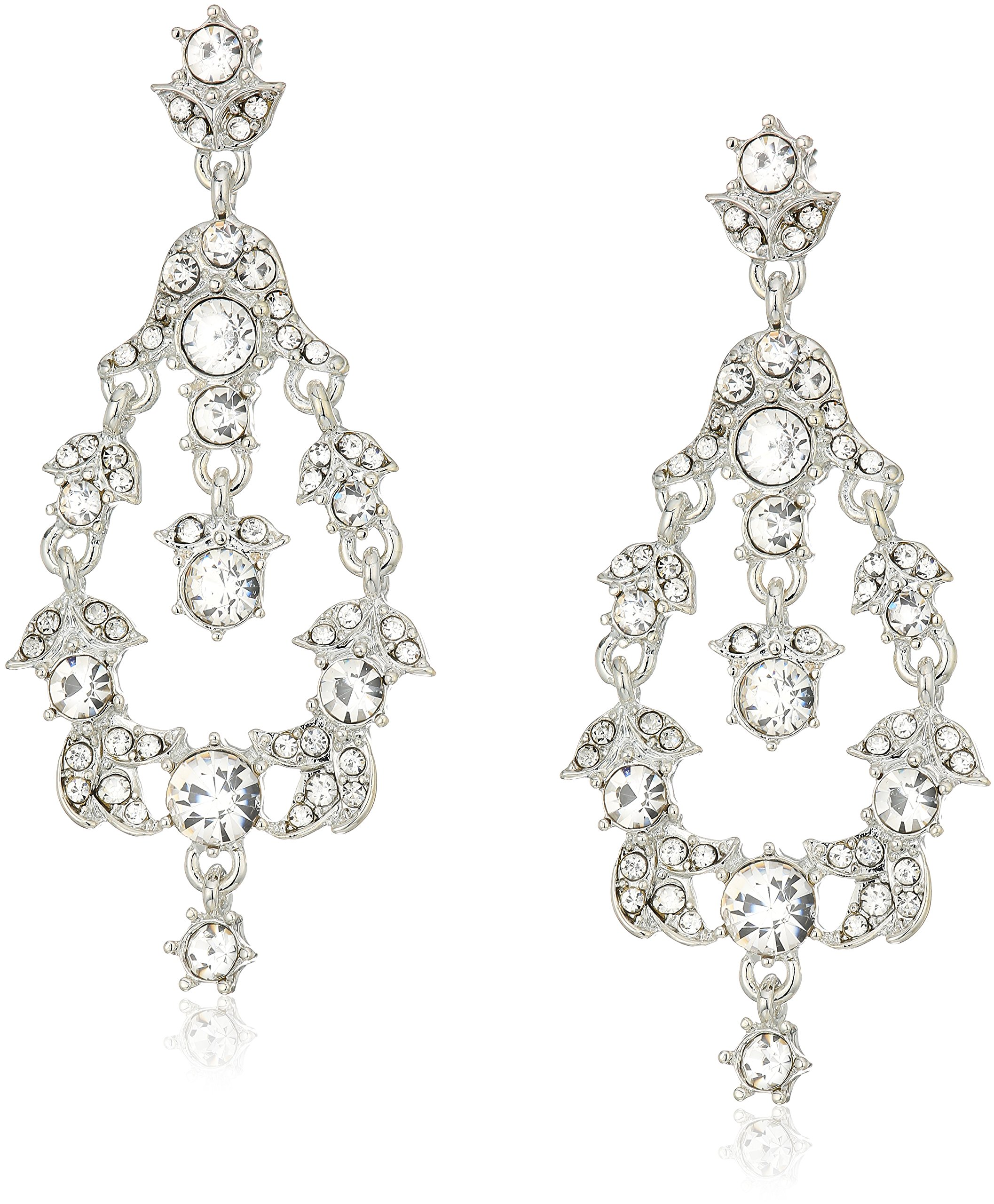 Anne Klein Silver Tone Orbital Drop Earrings