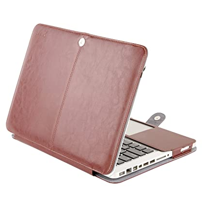 more photos 1cc66 97808 MOSISO PU Leather Case Only Compatible with Old MacBook Pro 13 Inch with  CD-ROM A1278 (Early 2012/2011/2010/2009/2008 Release), Premium Quality Book  ...