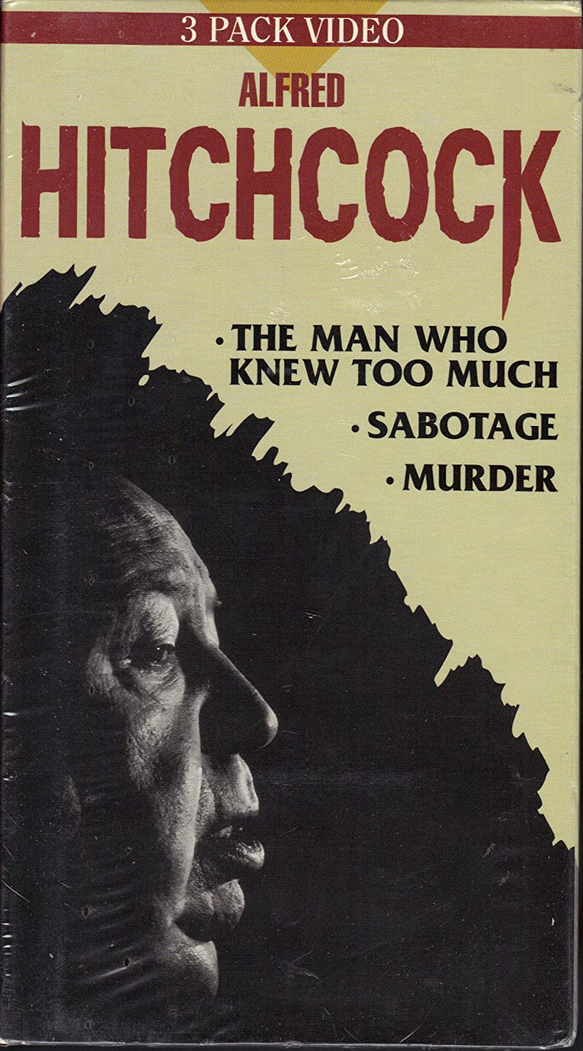 Alfred Hitchcock: Murder / Sabotage / The Man Who Knew Too Much [VHS]