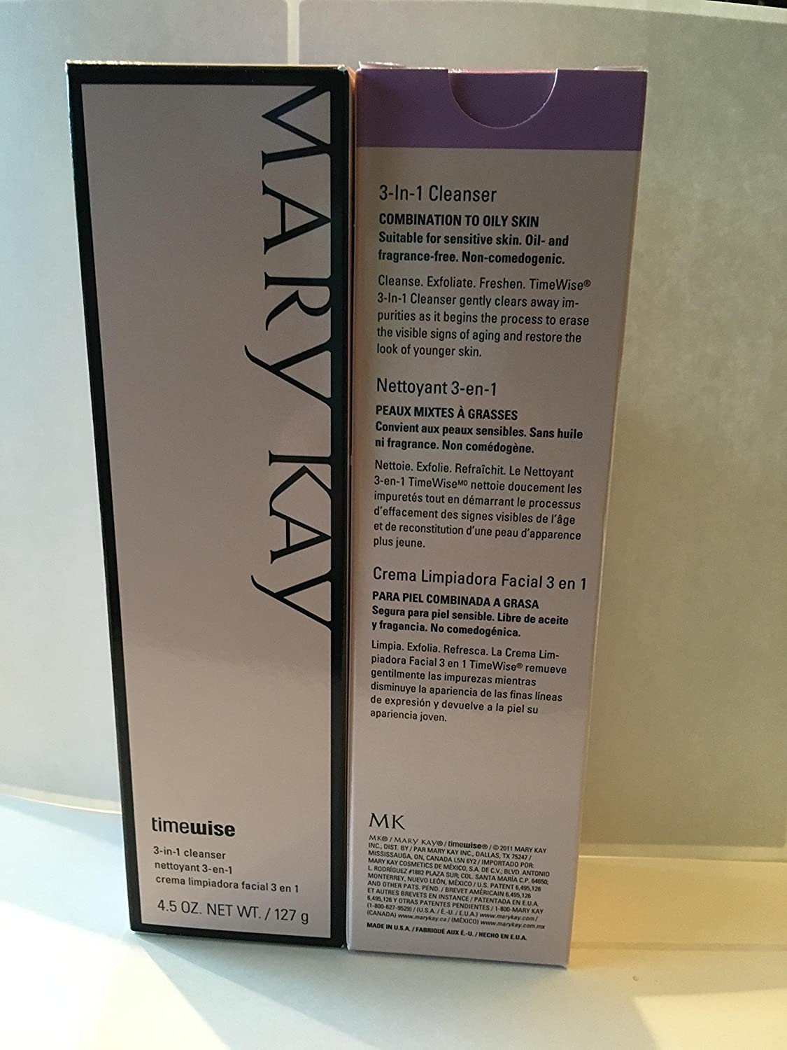 mary kay timewise 3-1 cleanser combination to oily skin