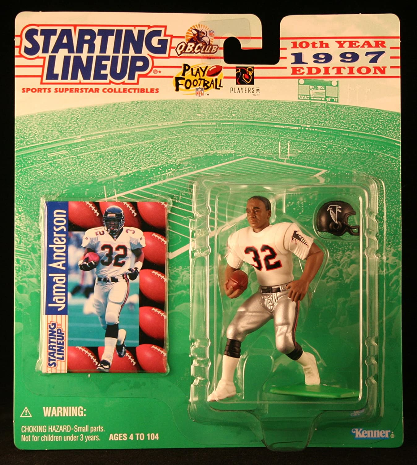 Starting Lineup JAMAL ANDERSON ATLANTA FALCONS 1997 NFL Action Figure /& Exclusive NFL Collector Trading Card